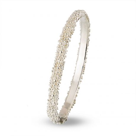 Bolletjes armband breed