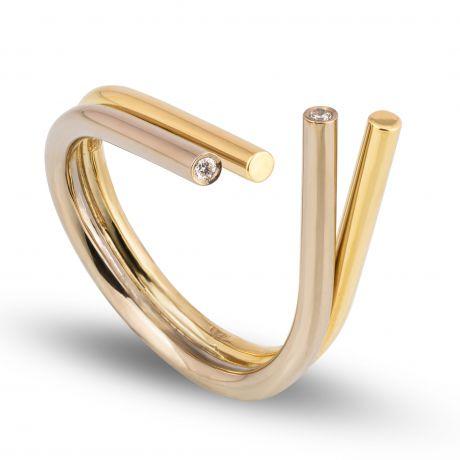 dubbele ring open