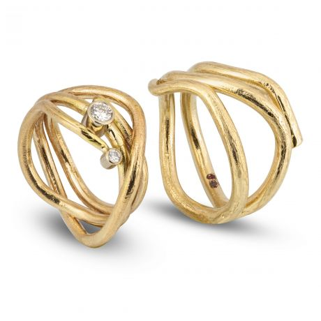 golvende-geruwde ringen